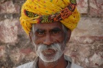 JAI Karauli in Rajasthan - portrait man 02 with turban 3008x2000